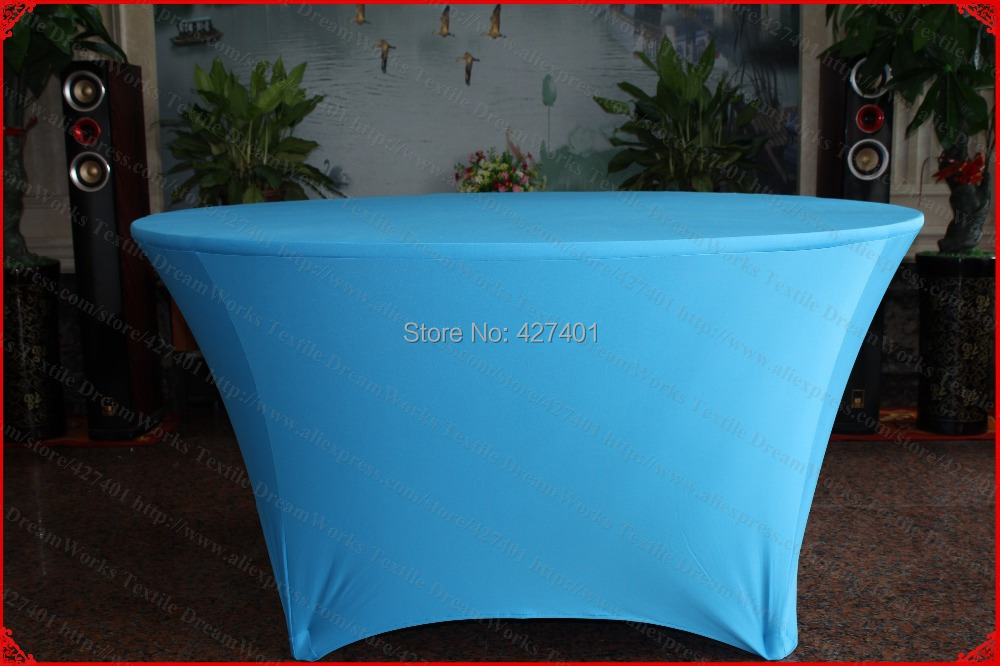 Turkis spalvos Lycra / Spandex stalo viršelis / staltiesė / stalo - Namų tekstilė
