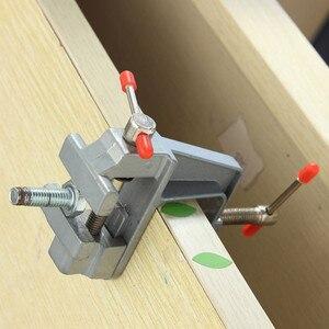 """1 шт. 3,5 """"алюминиевые микро тиски маленькие плоские плоскогубцы ювелир хобби плоскогубцы настольные тиски мини инструмент тиски"""