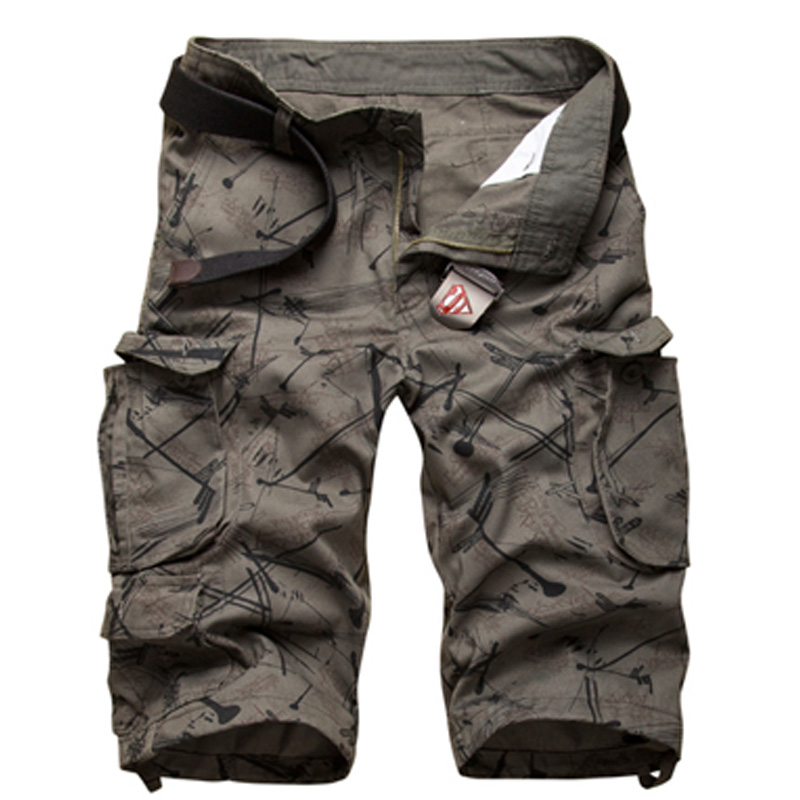 Shorts Men Military Camouflage Shorts Homme Shorts Men Brand Casual Fitness Cotton Breathable Cargo Shorts