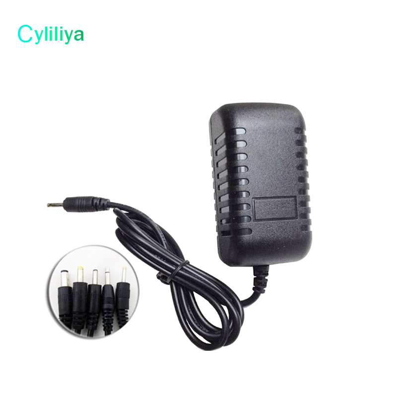 5V 2A Black Wall Charger Power Adapter 2 5mm US EU Plug Adapters for android Tablet