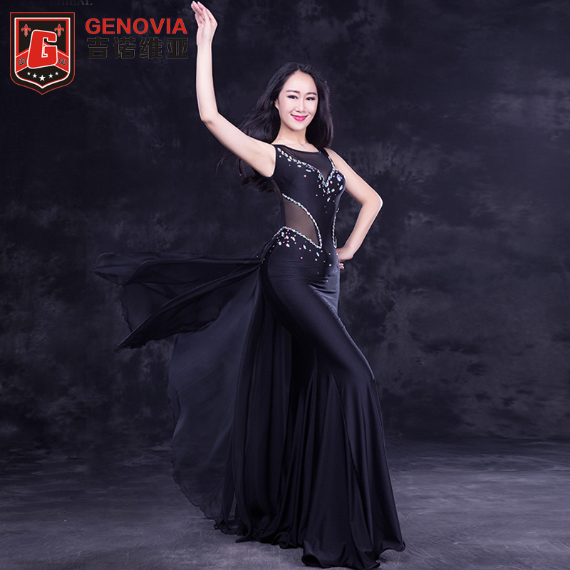 Women Oriental Dance Belly Dance Costume Suits Club Stage One-piece Long Skirt Dress New Arrival 2018 Ladies Club Long Skirt