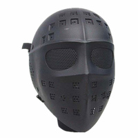 Full Face mask dance mask Hockey Type Airsoft Mesh Goggle Mask ABS Black