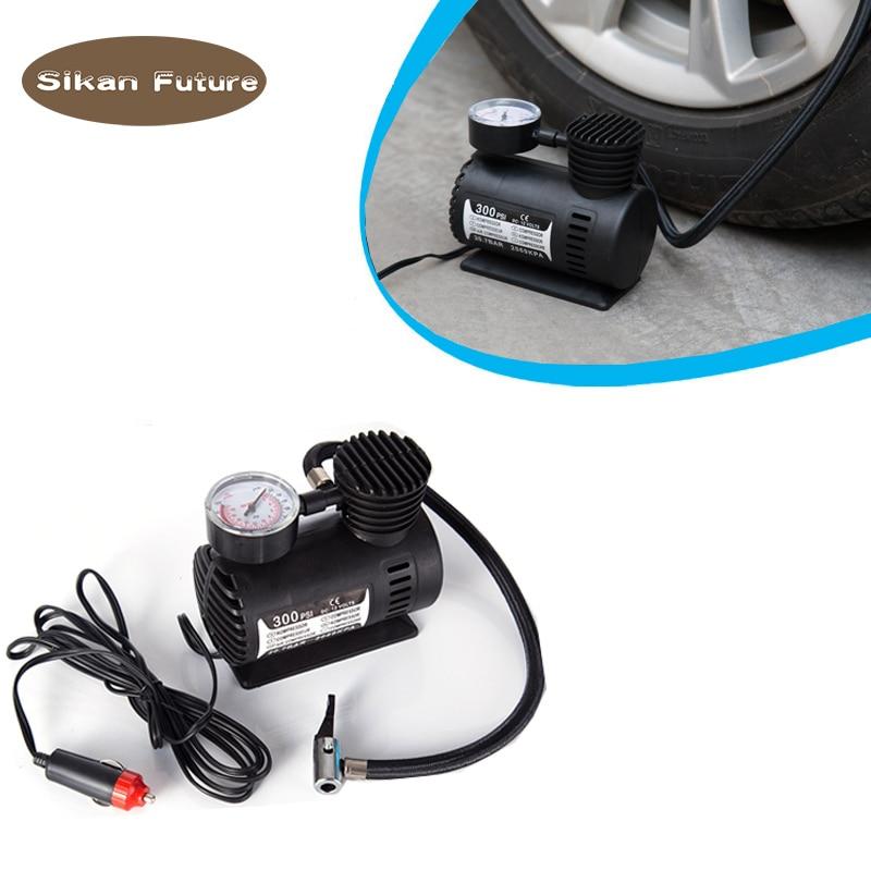 12V 300PSI Car Auto Portable Mini Electric Air Compressor Kit for Ball Bicycle Minicar Tire Inflator Pump Cigarette Lighter Plug 300psi 12v mini air compressor auto car electric tire air inflator pump csl2018
