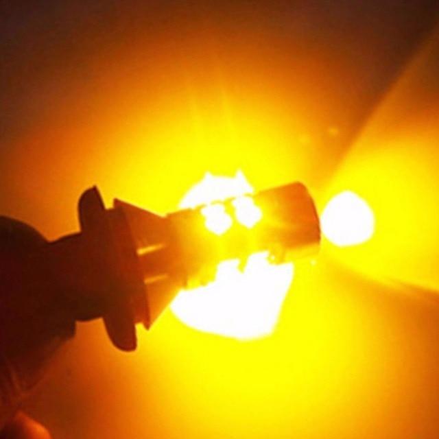 Pour éclairage de voiture 2 pièces 1156 haute puissance double couleur Switchback LED ampoule P21W S25 BA15S 2835 42LED lampe de clignotant diurne 3