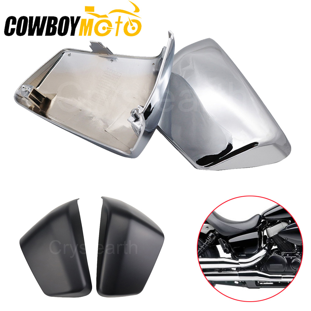 Chrome Motorcycle Battery Side Cover Batteries Side Fairing Guard For Honda Shadow ACE 750 VT750 C