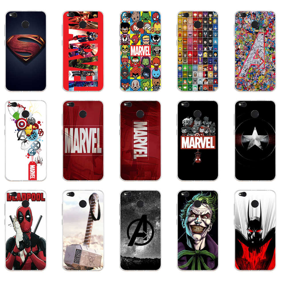 152 ZX Luxury marvel stypel TPU Soft Silicone Phone Case for Xiaomi Redmi 4X 4A 5A 6A 6 Note 5a pro mi a1 8 lite Cover