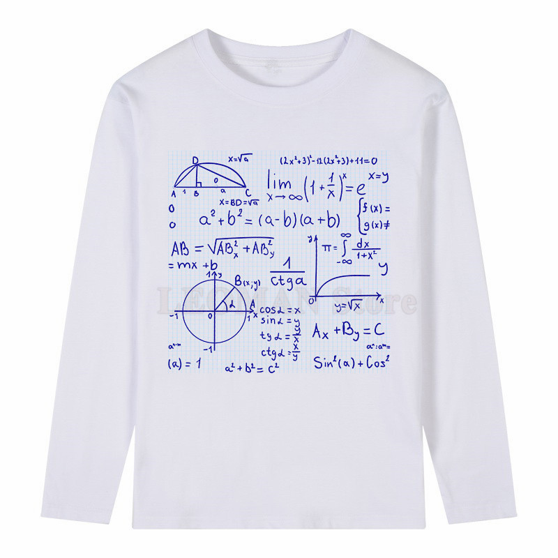 7bf7416c LEOMAN 2017 Funny Novelty Math T Shirt Men's Personalized Custom Printed T  Shirt Long Sleeve T Shirts Oversize Style Men Tees -in T-Shirts from Men's  ...