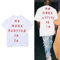 2017 Мода Жизнь Пабло 1:1 Kanye West Я Чувствую, пол Лос-Анджелес LA Майка Лето Мужчины Женщины Хип-Хоп Harajuku футболка