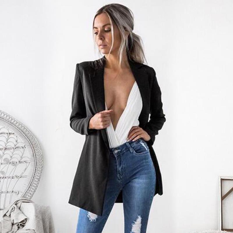 Women Fashion   Basic     Jackets   Long Sleeve Ladies Autumn CoatsClothing Female Work Suits WS1794E
