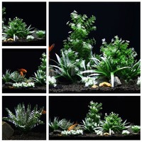 Mr.Tank 11pcs/lot New Aquarium Plants Package Set Plastic Artificial Aquatic Landscape Decorations Water Plants Set