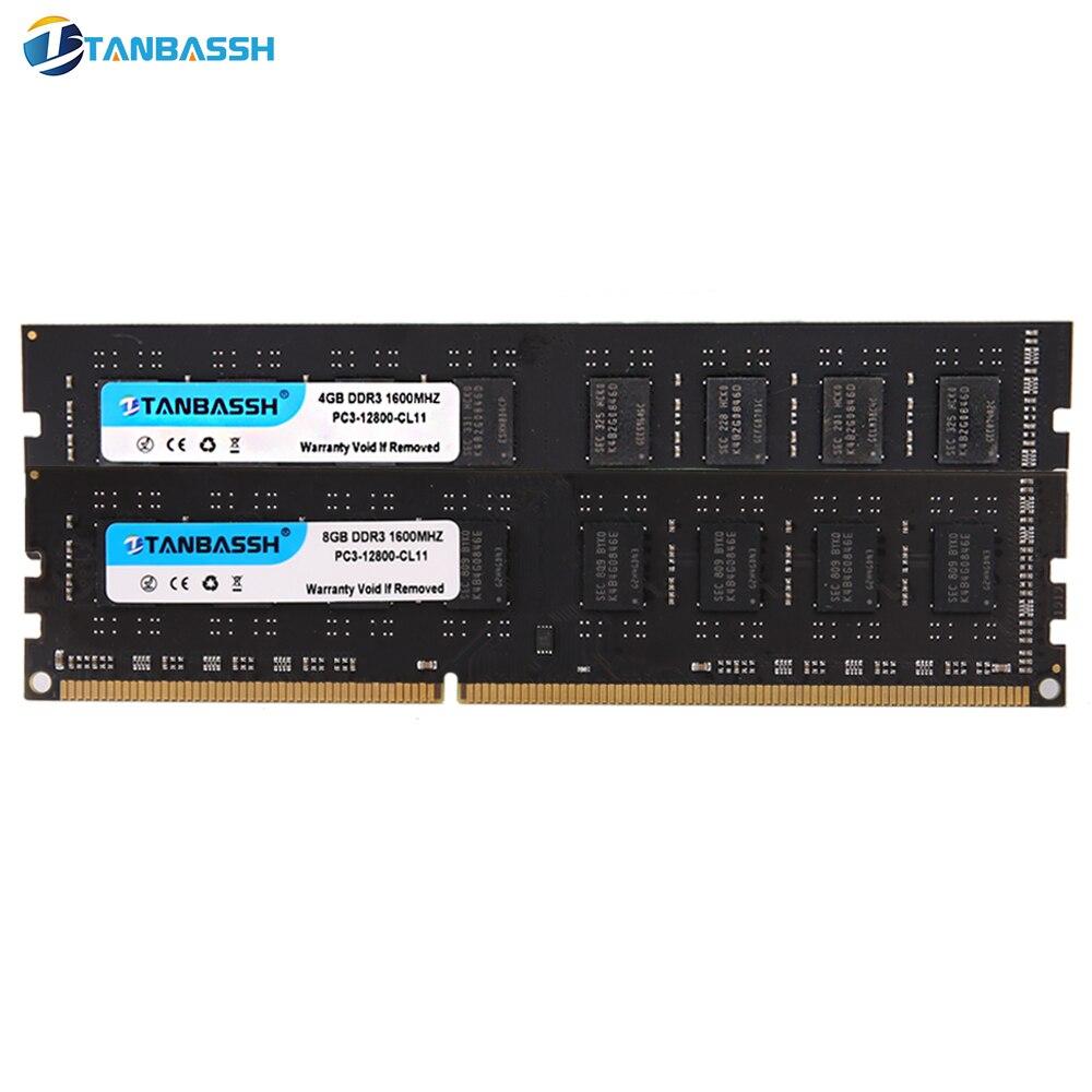DDR3 4 ГБ DDR3 8 ГБ ОЗУ 1333 МГц 1600 МГц память для настольного компьютера 240pin 1,5 в длинный DIMM Intel двухканальный (2x двухканальный)