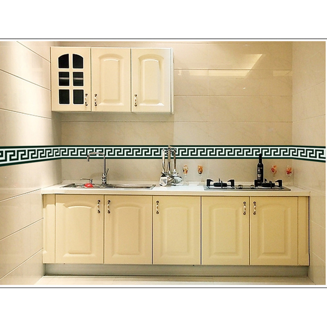 New 4.2m Bathroom Tile Large Wall Sticker For Glass Window PVC Kitchen  Waist Line Mural