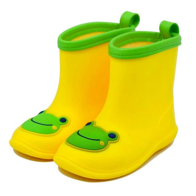 2016 Новый Дизайн Мультфильм Дети Дождя Сапоги противоскольжения Девочки Мальчики Водонепроницаемый ПВХ Обувь Симпатичные Малышей Детские Ботинки Воды