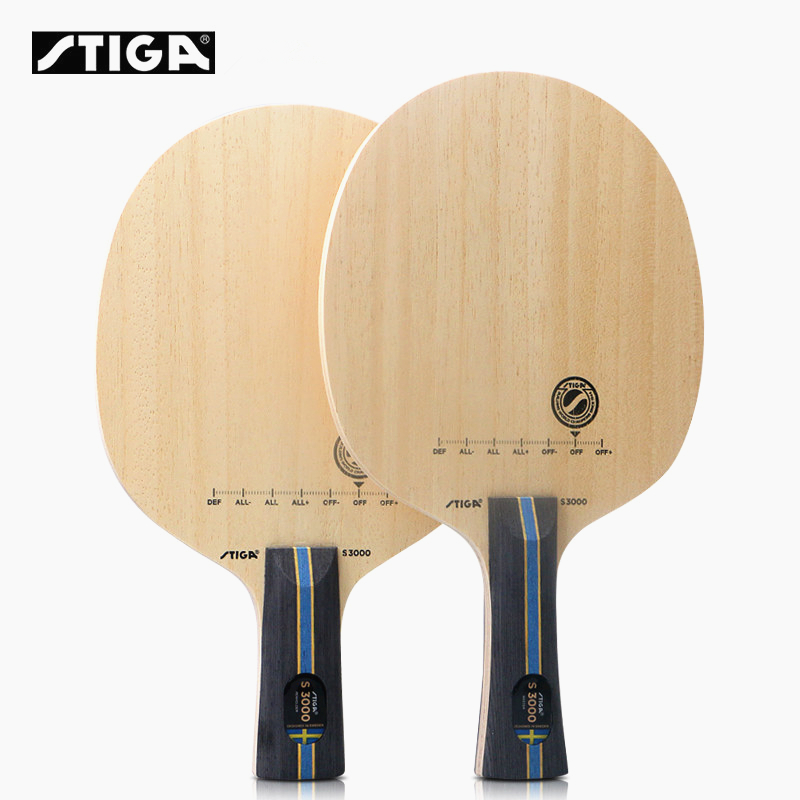 STIGA Table Tennis Blade S3000 Allround Play 5 Ply Pure Wood Control Ping Pong Racket Bat Tenis De Mesa
