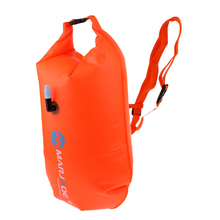 Perfeclan Inflatable Swim Buoy Dry Bag Open Water Swimming Tow Float Orange Premium PVC Construction Lightweight Durable