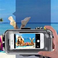 40 м/130ft подводный Bluetooth Водонепроницаемый Дайвинг чехол для телефона чехол для Android iPhone Водонепроницаемый сумка отдых на берегу моря плавани
