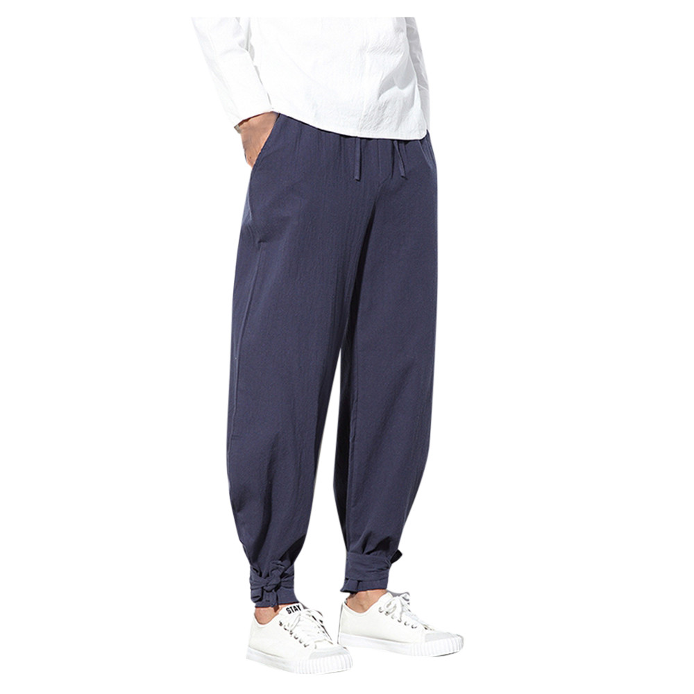 Luggage & Bags Feitong Casual Harem Pants Men Jogger Pants Men Fitness Trousers Male Chinese Traditional Harajuku #y35 High Safety