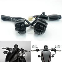 Motorcycle 1 25m Handlebar Control Switch With Wiring Harness For 1996 2012 Harley Dyna Softail Sportster 883 1200 V ROD