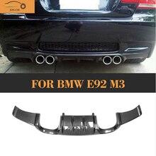Автомобильный задний бампер из углеродного волокна, спойлер для BMW E92 M3 E93 M3 2008-2013, не для E90, 4 двери