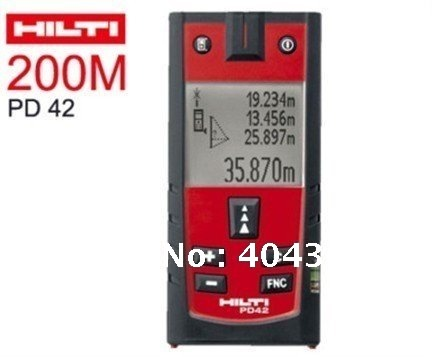 Electrical Equipment HILTI PD42 Laser Range Finder Distance Measurer 200m,DHL/FEDEX Free shipping electrical equipment aot500 optical talk set two parts communication 120km dynamic range 1310