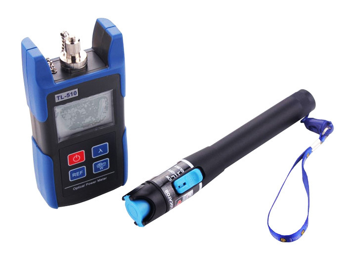 TL510A Optical Power Meter with FC SC Connector +TL532 Red Source Fiber Optic Cable Tester (Range: 10-12km)