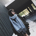 2016 Fashion Autumn Winter Warm Women's Scarf Soft Cotton Linen Solid Color Scarves For Women Free Shipping F090