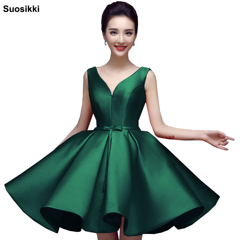 Suosikki Sexy Short Cocktail Dresses Bridal Banquet Wine Red Stain Backless Party Formal Dress Homecoming Dress Robe De Soiree(China)