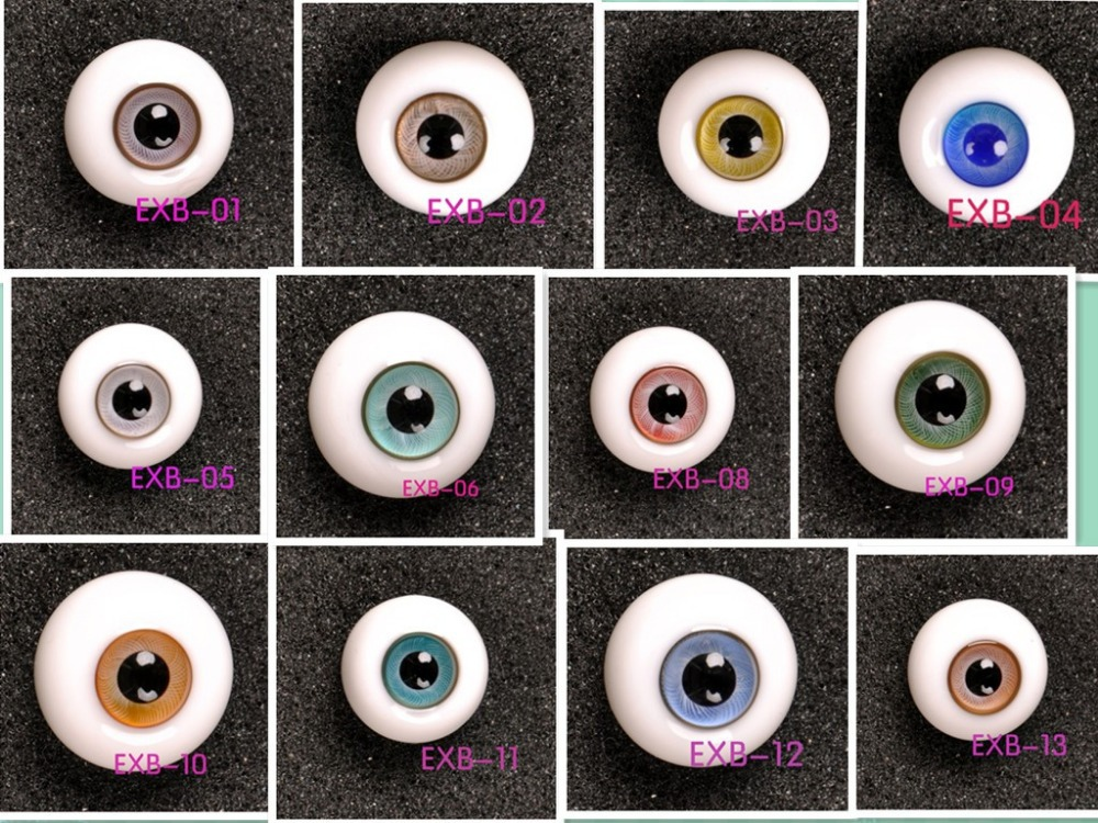 EXB Hand made BJD Doll Glass eye YOSD MSD SD doll eyes fit for all doll ,Factory sale directly Free shipping free makeup and eyes included sd doll 1 6 27cm bjd doll yotenshi hinata yosd baby doll bjd top quality