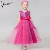 Vnaix f1019 блестящие Платье с блестками для подружки невесты с цветочным поясом Длинные платье принцессы из тюля для вечеринки