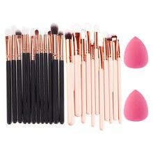 12Pcs Rose Gold Makeup Brush Set Foundation Brush Eyeshadow Eyeliner Eyes Cosmetic Brushes+ Sponge Puff Gift Make Up Tools