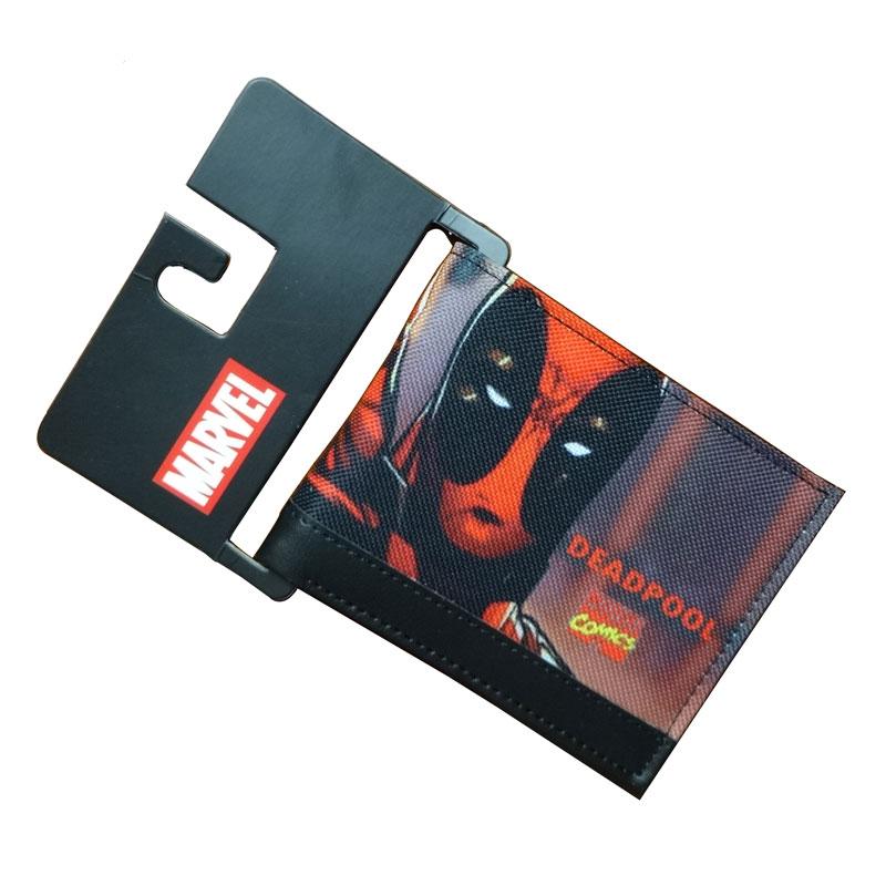 Comics DC Marvel Men Wallets Fashion Casual Purse Deadpool Animation Creative Gift Card Holder Bags Wallet carteira masculina comics dc marvel wallets green arrow leather purse women money bags gift wallet carteira feminina bolsos mujer de marca famosa
