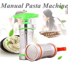 Kitchen Stainless Steel Maunal Pasta Machine Spaghetti Noodle Maker 3 Noodle Molds Home DIY Pasta Tools Kitchen Accessories