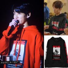 Kpop Хип-Хоп BTS Harajuku стиль Звезды Мужская sweatershirt бархат пуловеры хлопка толстовки