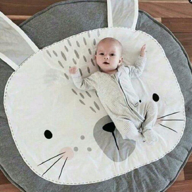 цена на INS tapete infantil Baby Play Mats Kids Crawling Carpet Floor Rug Baby Bedding Rabbit Blanket Cotton Game Pad Room Decor 90CM