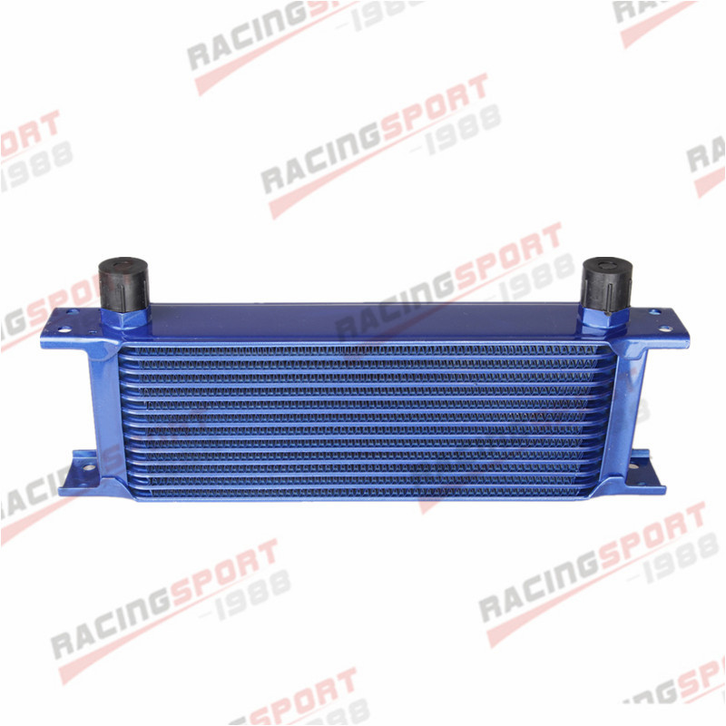 Универсальный 13 ряд 10AN AN10 Алюминий радиатор трансмиссионного масла двигателя синий