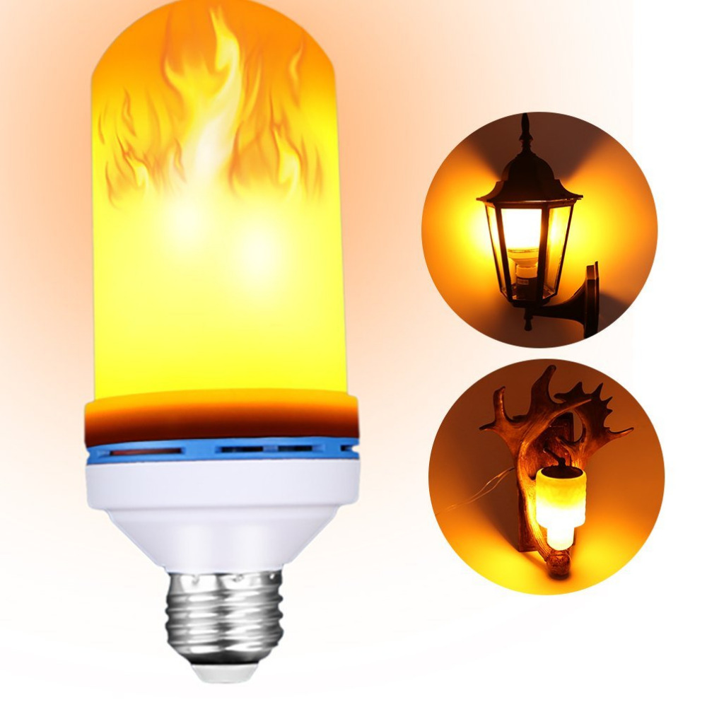 2018 New Lampara E27 Led Flame Effect Fire Light Bulbs Flickering Emulation Decorative Lamps Simulated Vintage Bulb For Club