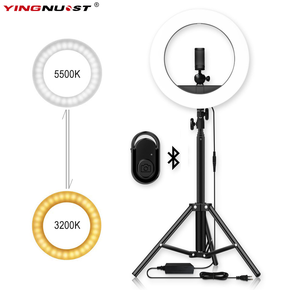 Photo Studio Camera Phone Video 14inch 55W 240PCS LED Ring Light 5500K Photography Dimmable Ring Lamp