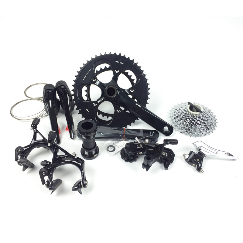 Road Bike BlackGroupsets Bicycle 170/172.5mm 50/34 53/39 11-26 11-32 Bicycle Groupset 10s 2*10 Speed profigym штрц 170 26