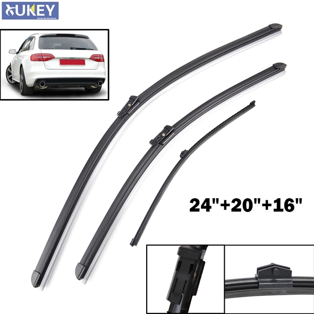 xukey front rear wiper blade for audi a4 b8 2009 2016 rubber rh aliexpress com 05 Audi A4 05 Audi A4
