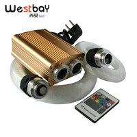 Westbay 32W RGB LED Optic Fiber Lights Kit Optical Fiber Kit 300pcs*0.75mm 100pcs*1.0mm Fiber Optic Starry Sky IR/RF