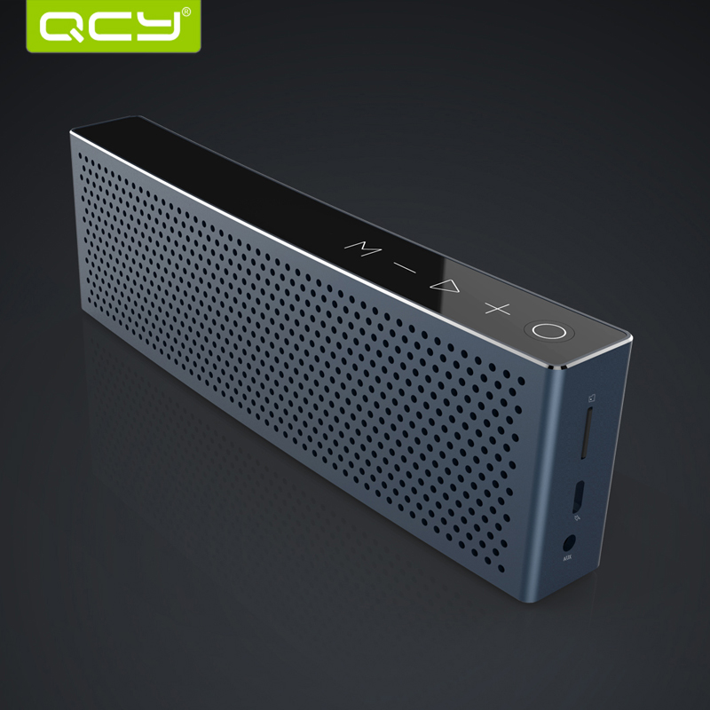 ФОТО QCY M5 metal portable speaker wireless bluetooth 3D stereo sound MP3 music player support AUX Interface and 3.5mm TF card