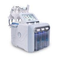 Лидер продаж 6 в 1 корейский H2 O2 Аква лица спа кислород Peel уход за кожей дермабразия машина