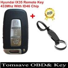 Бесплатная Доставка в Исходном Размере Смарт Дистанционного Ключа Keyless Entry FOB 3 Кнопки Для Hyundai IX35 Kia 433 МГц С ID46 Чип