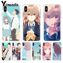 Yinuoda Cartoon EEN Stille Voice Alle Soort van Kleur Anime Soft TPU siliconen Telefoon voor iPhone 8 7 6 6S Plus X XS max 10 5 5S SE XR(China)