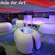 Hot sale inflatable office with LED lights,inflatable office for events, exhibition, trade shows