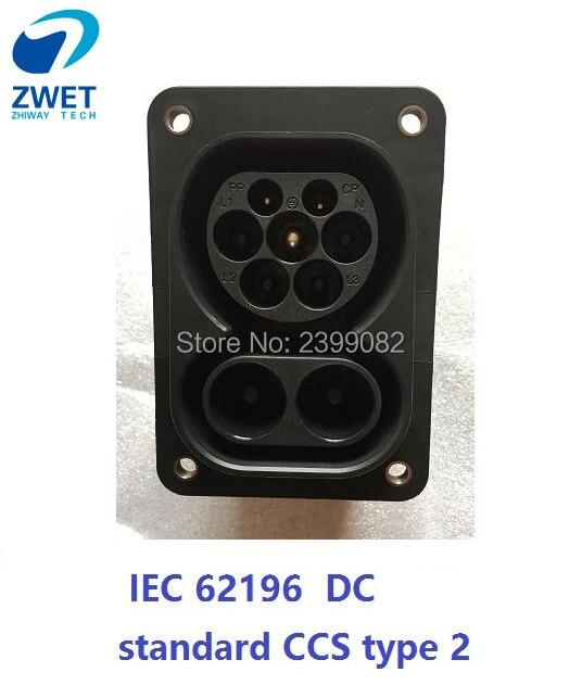 Ev charger socket iec 62196 electric car type2 iec 62196 iec standard ccs type 2 charging
