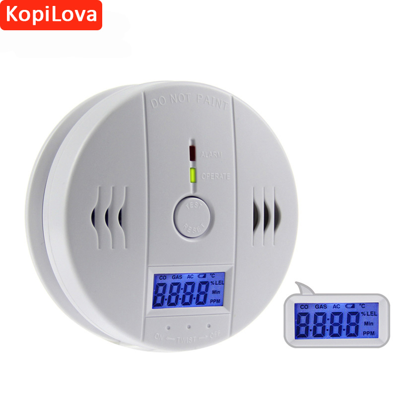 10pcs Wireless CO Sensor Carbon Monoxide Detector Standalone Home Secrity System Digital Display Alarm Sensitive Fire Protection golden security lpg detector wireless digital led display combustible gas detector for home alarm system