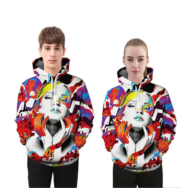 Mr.1991INC 3D Hoodies Men/Women Sweatshirt Hooded Brand Clothing Cap Hoody Colorful Lady Print Fashion Lover Couple Wear M ~ 3XL