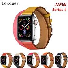Кожаный ремешок для Apple watch группа серии 4 44 мм 40 ремешок correa aplle часы 42 38 браслет ремень ремешки для часов iwatch 3/2/1