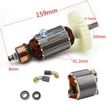 AC220 240V 9 Denti Albero Motore Elettrico sega Circolare Armatura Rotore statore per Makita 5704R 5806R 5704RK 518629 3 516489 7 5806B